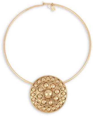 Robert Lee Morris Soho Empress Goldtone Shield Collar Necklace