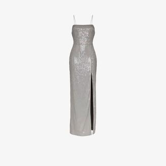 Rasario Square Neck Sequin Maxi Dress