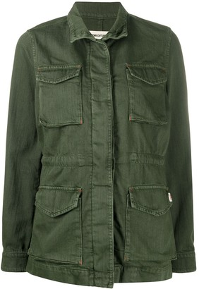 Semi-Couture Cotton Long Sleeved Military Jacket