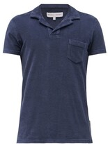 Orlebar Brown Terry-towelling Cotton Polo Shirt - Mens - Navy