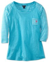 U.S. Polo Assn. Junior's 3/4 Sleeve Cotton Slub T-Shirt