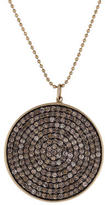 Sydney Evan Pavé Brown Diamond Disc Pendant Necklace