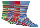 Red Herring Pack Of Four Blue Cotton Blend Striped Socks