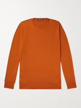 Loro Piana Virgin Wool Sweater - Men - Orange