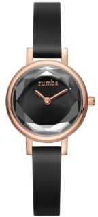 RumbaTime Venice Gem Silicone Women's Watch Black