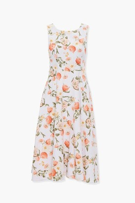 Forever 21 Floral Tea-Length Dress