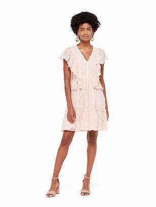Kate Spade By The Pool Embroidered Chiffon Dress