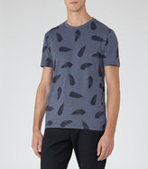 Reiss Heather Feather Print T-Shirt