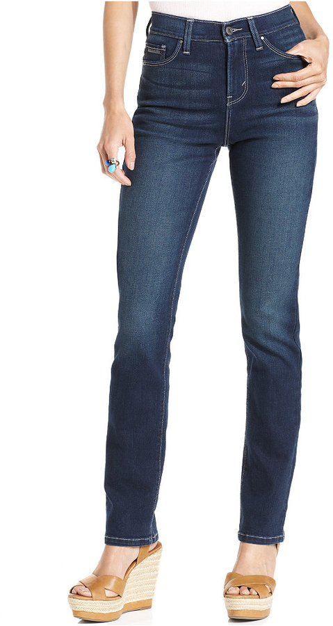 Levi's Petite Jeans, 512 Perfectly Slimming High-Rise Skinny, Indigo Sky Wash