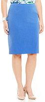 Kasper Plus Stretch Crepe Skirt
