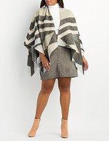 Charlotte Russe Plus Size Chevron Blanket Poncho