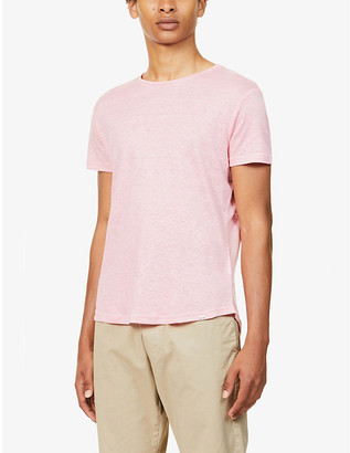 Orlebar Brown Classic-fit crewneck linen T-shirt