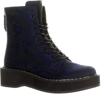 KENDALL + KYLIE Women's Casual boots NAVY/BLACK - Navy & Black Hunt Combat Boot - Women