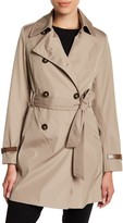 Via Spiga Double Breasted Trench Coat (Petite)