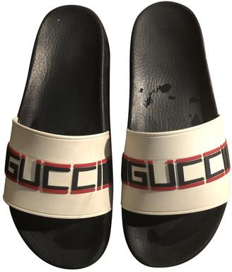 Gucci White Plastic Sandals