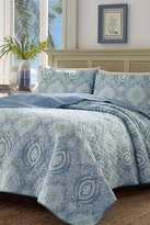 Tommy Bahama Turtle Cove Twin Quilt & Sham 2-Piece Set - Coral