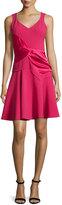 Prabal Gurung Sleeveless V-Neck Dress, Raspberry