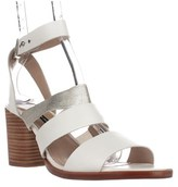 French Connection Ciara Strappy Sandals, Summer White/silver.