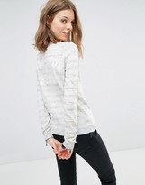 Maison Scotch Stripe Knitted Sweater