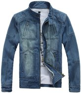 Ouroboros Coat & Jacket Men's Jacket, Denim Slim Fit Design