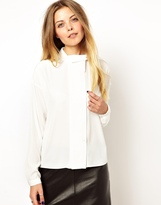 Asos Blouse with Pintuck Placket and Wrap
