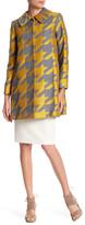 Alice + Olivia Kinsley Oversize Wool Blend Houndstooth Coat