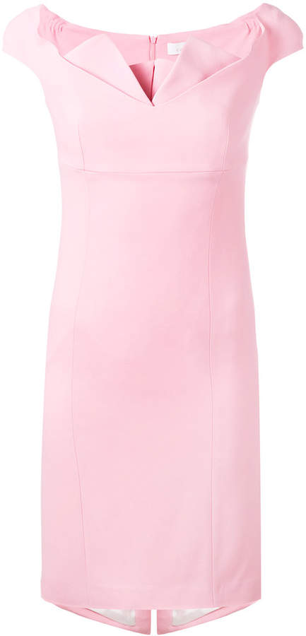 Capucci off-shoulder fitted dress