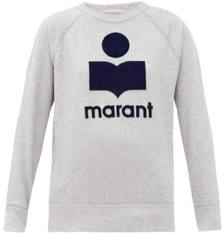 Etoile Isabel Marant Milly Terry-logo Cotton-blend Sweatshirt - Grey