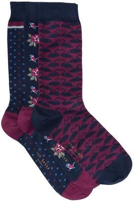 Ted Baker 3-Pack Valentines Socks