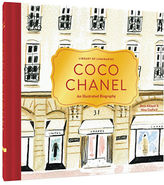 Chronicle Books Coco Chanel: An Illustrated Biography by Zena Alkayat and Nina Cosford Hardcover Book