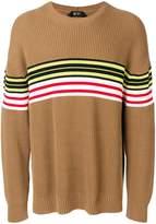 No.21 striped rib knit sweater