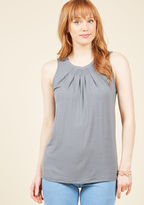 ModCloth Charmed, Indeed Tank Top in Charcoal in L