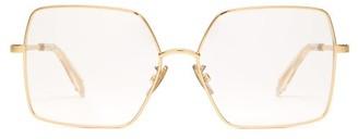 Celine Square Metal Glasses - Gold