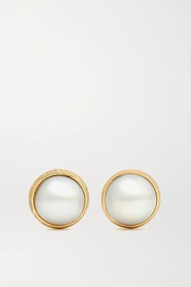 OLE LYNGGAARD COPENHAGEN Lotus 18-karat Gold Pearl Earrings - one size