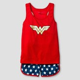 Wonder Woman DC Comics® Wonder Woman Girls' Tank Mesh Short Pajama Set - Red