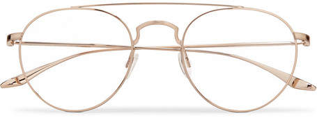 Barton Perreira Vashon Aviator-Style Gold-Tone Titanium Optical Glasses