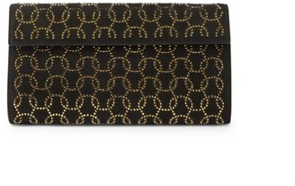 Alaia Arabesque Swarovski Crystal-Embellished Leather Clutch