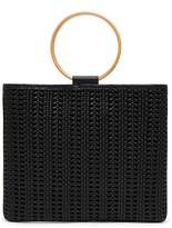 THACKER Le Pouch Ring Handle Woven Leather Crossbody Bag