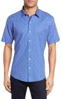 Zachary Prell Rashid Print Sport Shirt