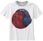 Gymboree White & Red Basketball Jersey Tee - Boys