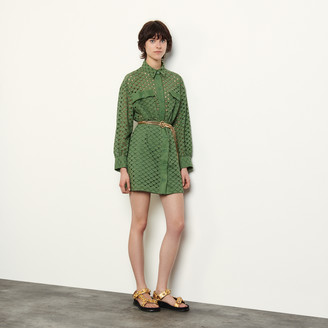 Sandro Broderie anglaise shirt dress