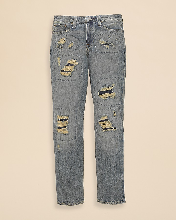 Ralph Lauren Boys' Rigid Denim Slim Fit Jeans - Sizes 8-20