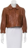 See by Chloe Collared Leather Jacket