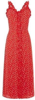 Oasis Floral Ruffle Midi Dress