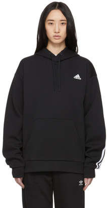 adidas Black Original 3-Stripes Hoodie