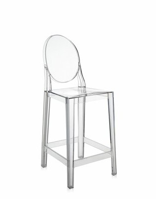 """Kartell Ghost Bar & Counter Stool (Set of 2 Seat Height: Counter Stool (25.5"""" Seat Height), Color: Crystal"""
