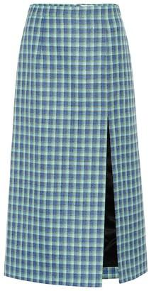 Balenciaga Checked wool pencil skirt