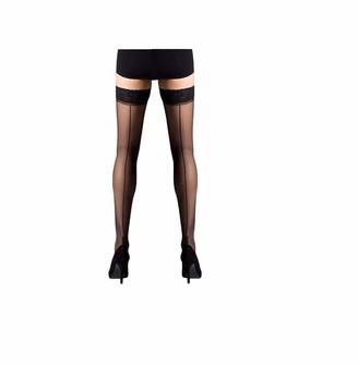 "5ft Scarlet Seamer Lace Black Hold-Up Stockings 5ft 8/"" Medium"