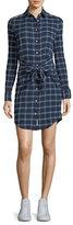 Rag & Bone Sadie Plaid Tie-Waist Shirtdress