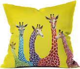 Deny Designs Clara Nilles Jellybean Giraffes Indoor/Outdoor Throw Pillow